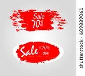geometrical social media sale... | Shutterstock .eps vector #609889061