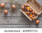 Fresh Chicken Eggs Background....