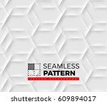 seamless pattern with hexagonal ... | Shutterstock .eps vector #609894017