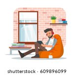vector illustration of young... | Shutterstock .eps vector #609896099