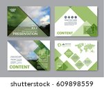 set of presentation layout... | Shutterstock .eps vector #609898559