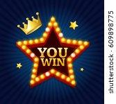 winner success achievement... | Shutterstock .eps vector #609898775