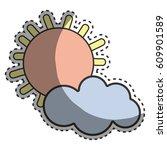 sun and cloud cartoon character   Shutterstock .eps vector #609901589