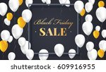 black friday sale poster with... | Shutterstock .eps vector #609916955