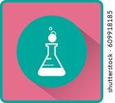 flat beaker icon | Shutterstock .eps vector #609918185