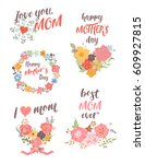 set of lower templates of... | Shutterstock .eps vector #609927815
