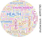 Health. Word Collage On White...