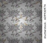 seamless pattern floral pattern.... | Shutterstock .eps vector #609930974