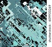 complex pixel pattern... | Shutterstock .eps vector #609933269