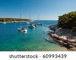Shot in the Pakleni Islands off the coast of Hvar, Croatia - stock photo