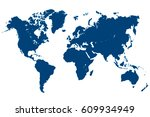 blue world map vector | Shutterstock .eps vector #609934949