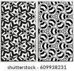 vector monochrome seamless... | Shutterstock .eps vector #609938231