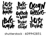 travel to the ocean. just... | Shutterstock .eps vector #609942851