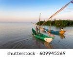 lake victoria fishermen go to... | Shutterstock . vector #609945269