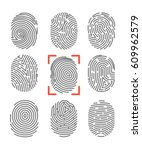 fingerprints or fingertip... | Shutterstock .eps vector #609962579