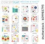 infographics mini concept... | Shutterstock .eps vector #609983795