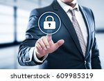 cyber security data protection... | Shutterstock . vector #609985319