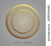 vector illustration. gold... | Shutterstock .eps vector #609994481