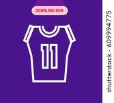 number eleven sports jersey...   Shutterstock .eps vector #609994775