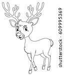 animal outline for little fawn...