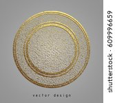 vector illustration. gold... | Shutterstock .eps vector #609996659