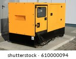 yellow auxiliary diesel... | Shutterstock . vector #610000094