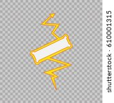 thunderbolt sign on transparent ... | Shutterstock .eps vector #610001315