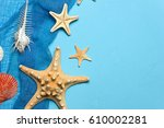 marine blue background with... | Shutterstock . vector #610002281
