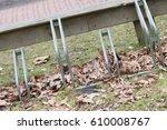 bike rack in front of a dutch...   Shutterstock . vector #610008767