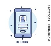 illustration of user login ui...