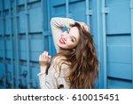 portrait of a beautiful... | Shutterstock . vector #610015451