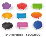 speech bubbles | Shutterstock .eps vector #61002502