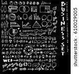business set sketch vector ink... | Shutterstock .eps vector #610029005