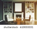 living room interior with a... | Shutterstock . vector #610033331