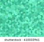Teal 3d Cube Mosaic Pattern...