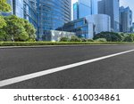 city empty traffic road with... | Shutterstock . vector #610034861
