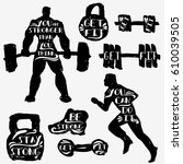hand drawn ink sport and...   Shutterstock .eps vector #610039505