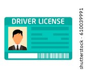 car driver license... | Shutterstock .eps vector #610039991