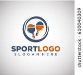 sport ping pong logo template....   Shutterstock .eps vector #610040309