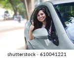 portrait of young indian woman... | Shutterstock . vector #610041221