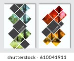 flyer layout template. vector...   Shutterstock .eps vector #610041911