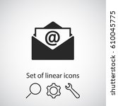 open mail icon. one of set web...