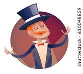 circus show mascot host boy man ...   Shutterstock .eps vector #610048829