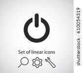 power  icon. one of set web...