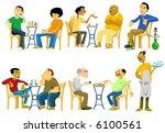cafe goers in egypt vector | Shutterstock .eps vector #6100561