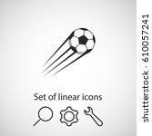 football icon. one of set web... | Shutterstock .eps vector #610057241
