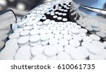 process of production of pills  ... | Shutterstock . vector #610061735