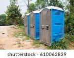 Blue Port Potties Or Portable...