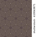 geometric repeating golden... | Shutterstock . vector #610063871