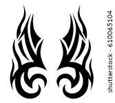 tattoo sketch tribal vector... | Shutterstock .eps vector #610065104